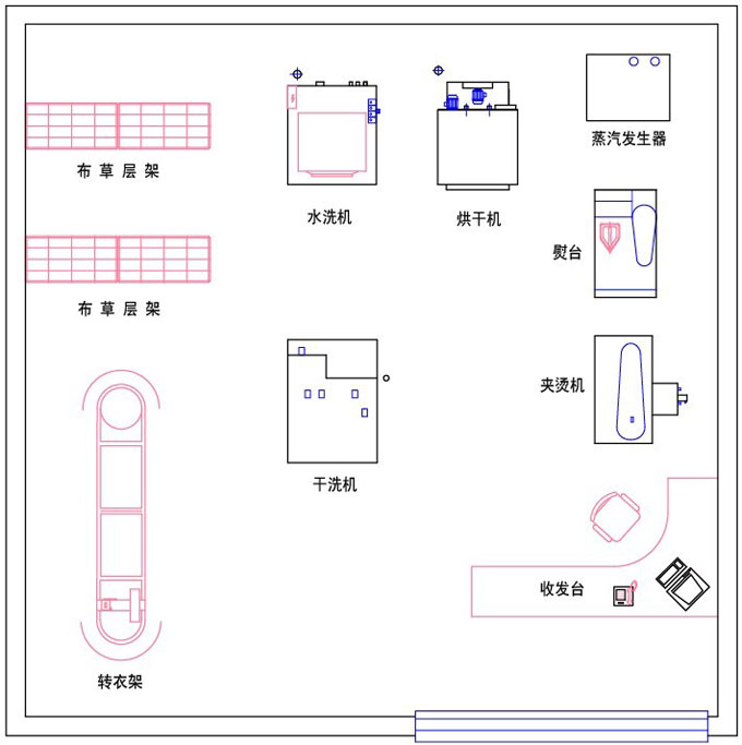 Society Laundry Shop Layout